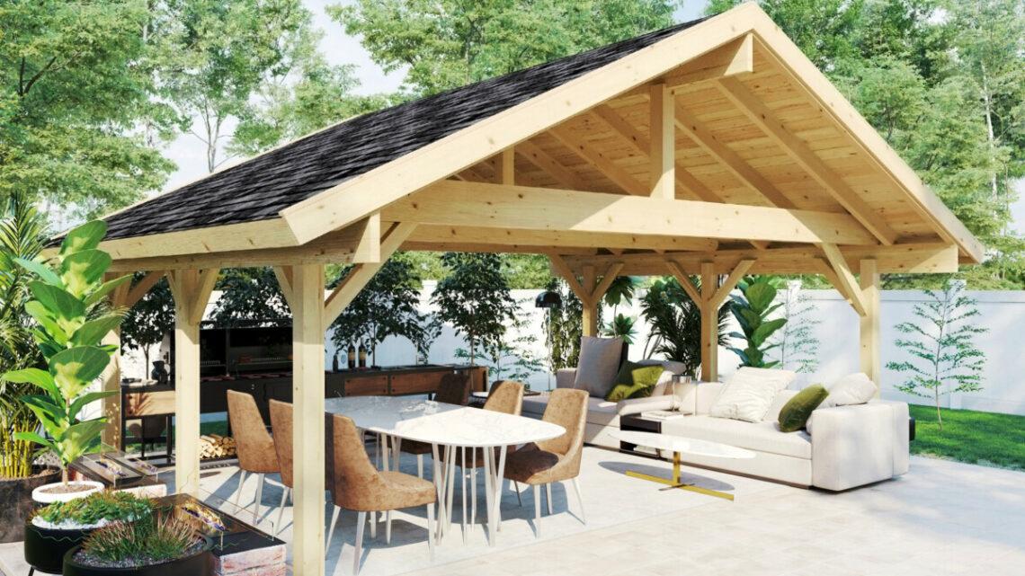 Ein Gartenhaus vom LogFoot™ Fundament bis zum Dach selbst bauen